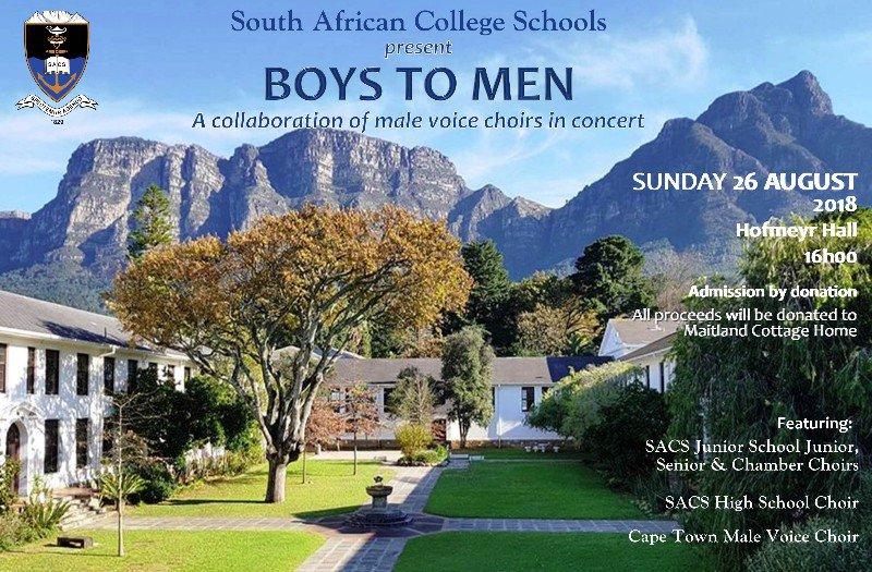 ramasser pourtant pas vulgaire nouveaux produits pour SACS Schools present: Boys to Men (News: 26 Jul 2018)